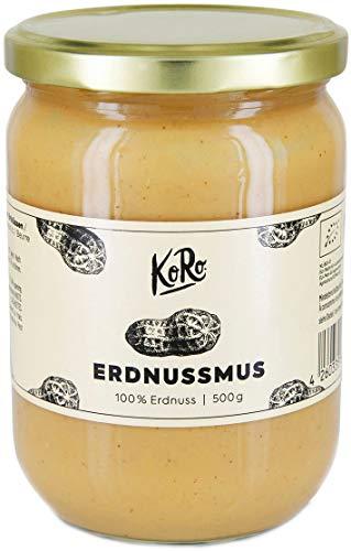 코로 - 유기 땅콩 버터 500g - 추가 설탕과 기름없이 뮤스 100 % 땅콩