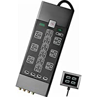Rocketfish- 12-Outlet 8-USB Surge Protector Strip (Black)