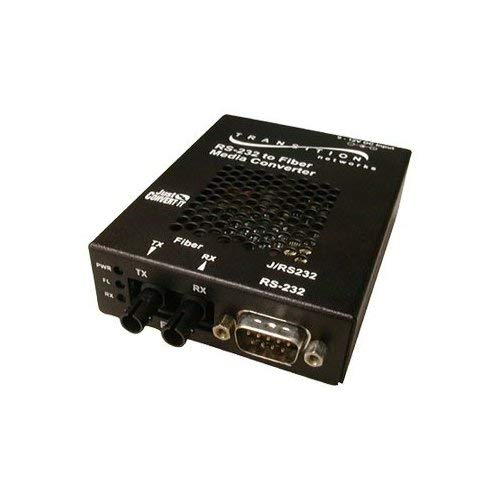 (Transition Networks J/RS232-TF-01(SC)-NA Just Convert-IT Stand-Alone Media Converter - Short-haul modem - serial RS-232 - SC multi-mode / 9 pin D-Sub (DB-9) - up to 1.2 miles - 1300 nm (Renewed))