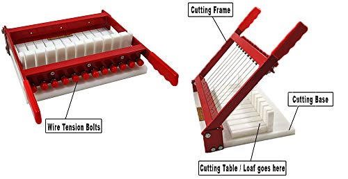 RED Soap Cutter - Perfectly Cuts 11 x 1 Inch Bars by Essential Depot (Image #2)