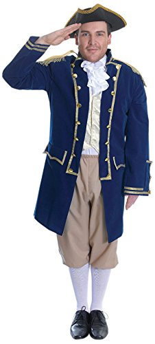 Bristol Novelty AC714 Admiral of The Fleet Costume, Multi-Colour, 44-Inch ()