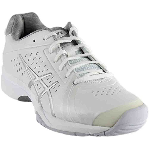 ASICS Women's GEL-Court Bella Tennis Shoe, White/Silver/White, 8.5 M US