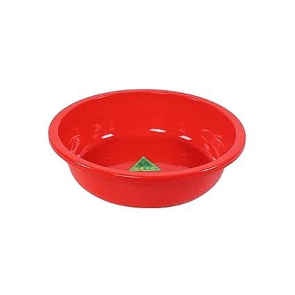 Roja Plástica PlásticoTina Xsjz Lavabo Redonda Gruesa Conveniente 8nNwyvm0O