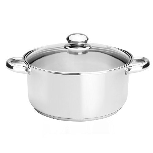 Kinetic Classicor Stainless Steel Dutch Oven, 5.5 Quart, 1 e