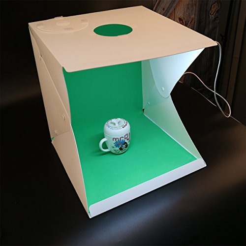 Portable Mini Photo Light Box 16 x 16Inch Top Photo Photography Studio (Contain Four-Color Photography Background) by YIGER
