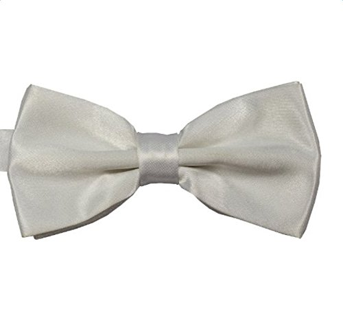 Qingsun Mens Bow Tie Pre-tied Adjustable Length Tuxedo Bow Tie Solid Color Neck Bowtie Many Colors Available