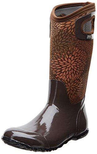 Paludi Womens North Hampton Floreale Impermeabile Stivali Di Avvio Cioccolato