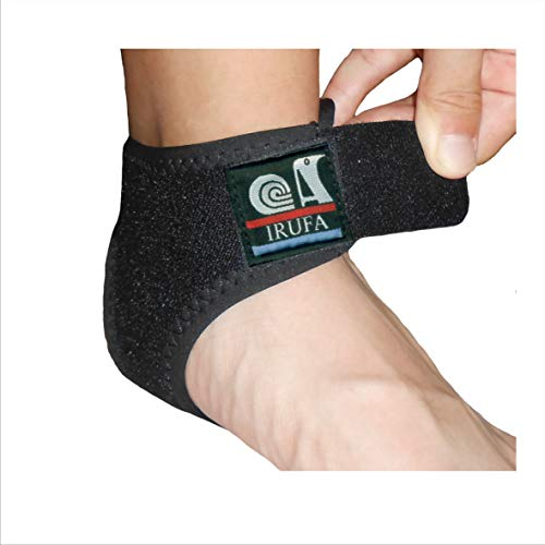 IRUFA, AN-OS-11,3D Breathable Elastic Knit Patented Fabric Adjustable Athletics Achillies Tendon Ankle Wrap, Plantar Fasciitis, Pain Relief for Sprains, Strains, Arthritis and Torn Tendons (L) (S/M)