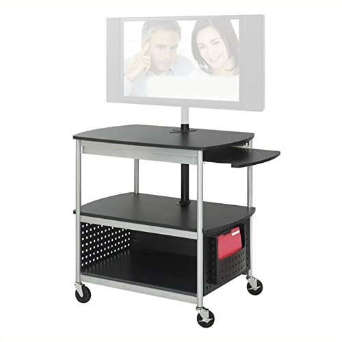 Safco Products Scoot Open Flat Panel Multimedia Cart, Black by Safco Products