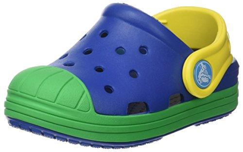 crocs Unisex-Kinder Bump it Clog Kids Blau (Blue Jean/grass Green)