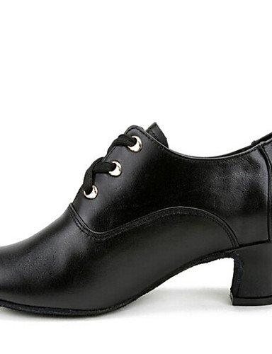 ShangYi Nicht Anpassbare - Niedriger Absatz - Leder - Modern - Damen Black