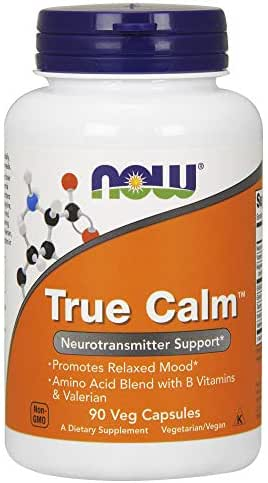 NOW Supplements, True Calm™, Amino Acid blend with B Vitamins & Valerian , 90 Veg Capsules