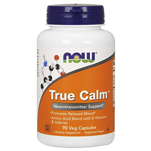 : NOW Supplements, True Calm, Amino Acid blend with B Vitamins & Valerian , 90 Veg Capsules