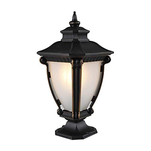 (ZLHLL Victoria Outdoor Pillar Light Vintage Patio Aisle Lawn Column Lamp Classical Villa Light Fixture Balcony Post Lantern Vintage Aluminum Waterproof Garden)