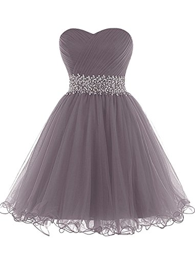 Short Strapless JAEDEN Tulle Dresses Grey Prom Mini Party Dress Dress Cocktail Homecoming a4wwRd