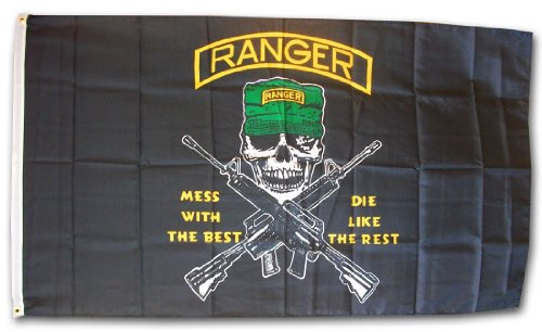 Army Rangers - 3' x 5' Dura-Poly Polyester Military Flag by