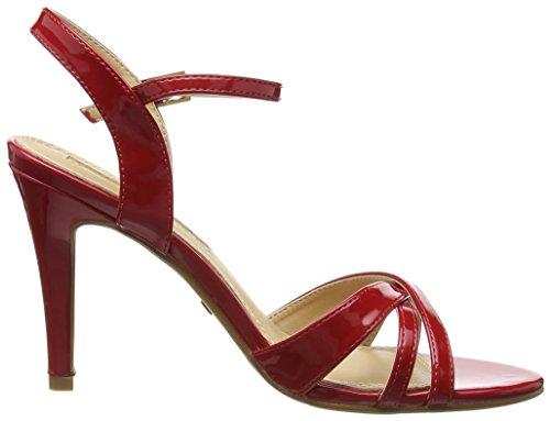 Mujer PU Sandalias Cu Rojo a con Patent 312703 Buffalo Shoes RAqHFF