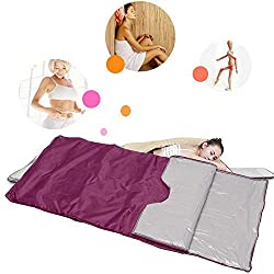 S SMAUTOP Infrared FIR Sauna Blanket, Body Shaper Weight Loss Professional Sauna Slimming Blanket Detox Therapy Anti Ageing Beauty Machine(Purple)