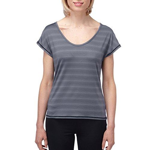 TOG 24 - Propel Damen Tcz Stretch Run T-Shirt Mood Blau Streifen - female - EU 36 - Blau