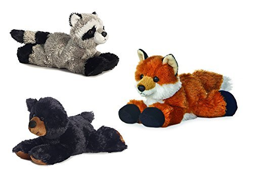 (Aurora Rascal Raccoon Foxie Fox Sullivan Black Bear Mini Flopsie 8