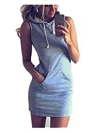 HMX Women's Slim Fit Sport Sleeveless With Hat Mini Dress