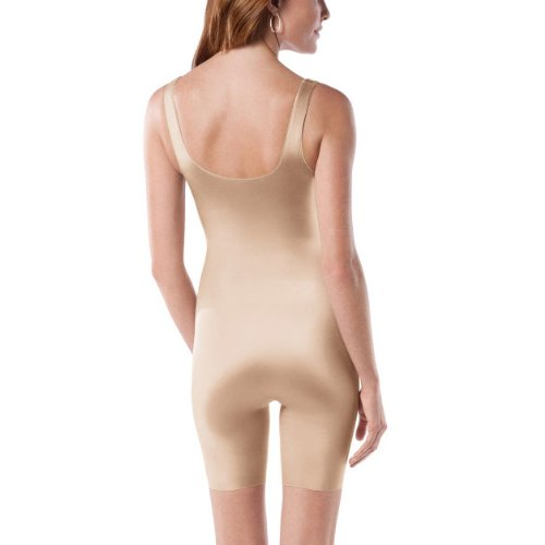 Spanx Women's Slimplicity? Open-Bust Mid-Thigh Bodysuit