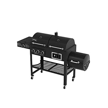 Smoke Hollow 3500 Gas/Charcoal/Smoker Grill with Side Burner