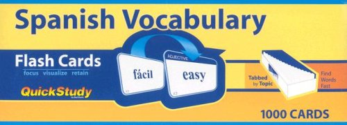 Spanish Vocabulary (Quickstudy) (Spanish Number Flash Cards compare prices)