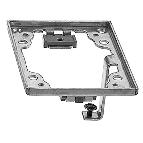 (Hubbell Wiring Systems SA5017G Aluminum Finish Plastic Flush Rectangular Adapter Frame with Grounding Lug, 4-23/64