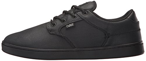 Pictures of DVS Men's Quentin Skate Shoe Black Wax Canvas 5