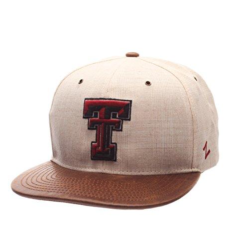ZHATS NCAA Texas Tech Red Raiders Adult Men's Havana Snapback Hat, Adjustable Size, Ivory/Dark Brown