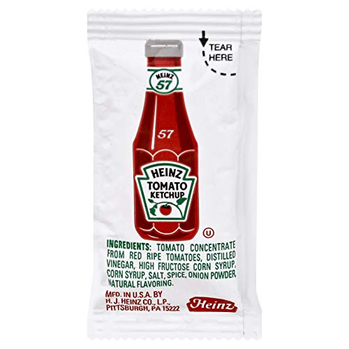 Heinz Tomato Ketchup, 0.32 Ounce (Pack of 200)