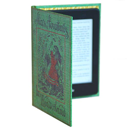 Kindle Case with Foldback Classic Book Cover (Alice in Wonderland)