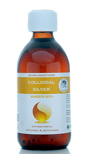 Premium Amber 80% True Colloidal Silver - 300 ml bottle