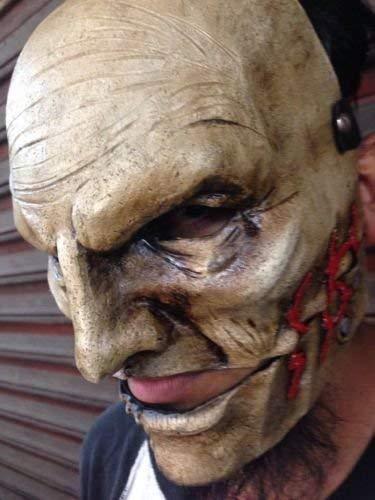 WRESTLING MASKS UK Men's Corey Taylor Mask Slipknot Fiberglass The Gray Chapter One Size Grey ()