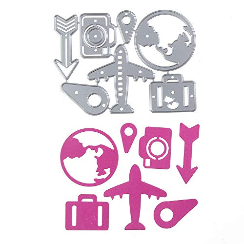 - Fantastic Travel Round The World Pattern Paper Card Making Metal Die Cut Stencil Template for DIY Scrapbook Photo Album Embossing Craft Decoration