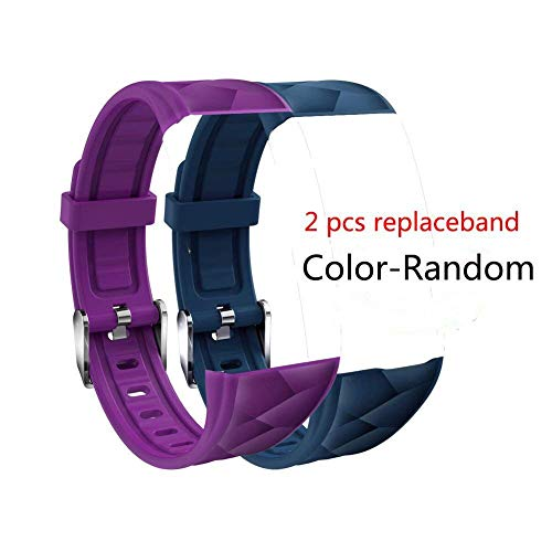 2 PCS GTBonad Replacement Band, Adjustable Strap for GTBonad 2018 NEW Fitness Tracker HR Smart Wristband(Color Random)