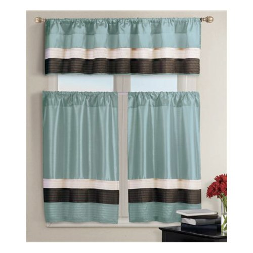 Amazon Kitchen Curtains Discount Store: Pintucked Kitchen Window Curtain Set 2 Tier Panel Curtain