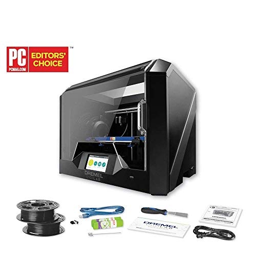 4 Spools of 3D Printlife Filament Bundle with Dremel Digilab 3D45 Award Winning 3D Printer, Idea Builder with Heated Build Plate to Print Nylon, ECO ABS, PETG, PLA at 50 Micron Resolution