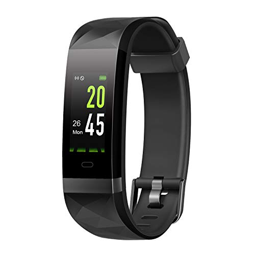 LETSCOM Fitness Tracker HR Color Screen, IP68 Waterproof Smart Watch Step Counter Sleep Monitor, Pedometer Watch Men Women Kids
