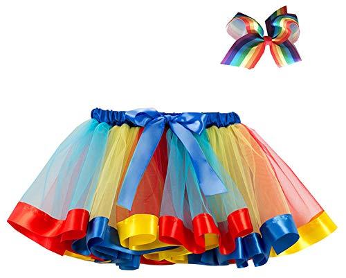 76978bb81f17 AOVCLKID Unicorn Costumes Little Girls Layered Ballet Tulle Rainbow ...