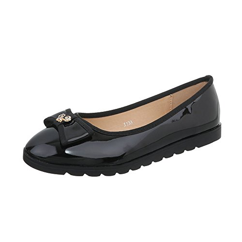 Zapatos para mujer Bailarinas Plano Bailarinas clásicas Ital-Design Negro J13A
