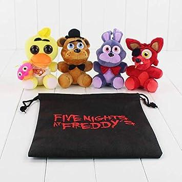 Amazon.es: CLMM FNAF Foxy Bonnie 5 Five Nights at Freddys - Juego de Peluches (4 Unidades): Juguetes y juegos