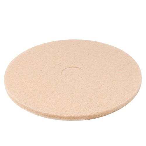 """Premiere Pads 4020ULT Synthetic Fiber Ultra High-Speed Floor Pad, 20"""" Diameter, for High Gloss, Champagne (Case of 5)"""