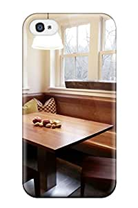 High Impact Dirt/shock Proof Case Cover For Iphone 4/4s (breakfast Nook With Wrap-around Seating)