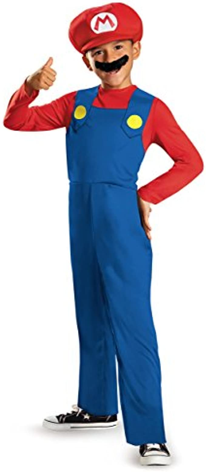 Nintendo Super Mario Brothers Mario Classic Boys Costume, Medium/7-8