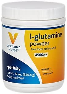 The Vitamin Shoppe LGlutamine Powder 4.5G, A Free Form Amino Acid, Supports Muscle Recovery Immune Health 12 Ounces Powder