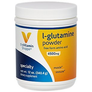 The Vitamin Shoppe LGlutamine Powder 4.5G, A Free Form Amino Acid, Supports Muscle Recovery Immune Health (12 Ounces Powder)