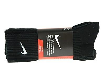 Nike New 3Ppk CTN Half Cush CR Smlx - Calcetines Unisex, Color Negro/Blanco