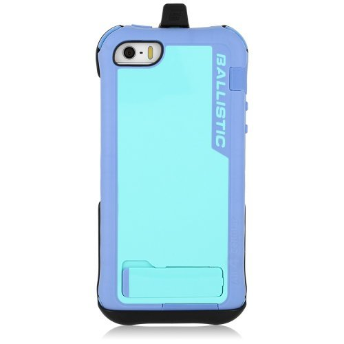 (Ballistic Every1 Case for iPhone 5 - 1 Pack - Retail Packaging - Violet/Light Blue )